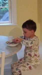 JR Eating Ice Cream Cake for Dinner!